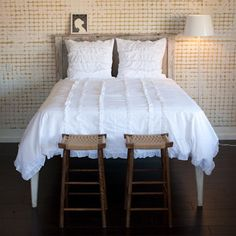 White Ruffle Duvet Bedding Traditional Covers India Rose
