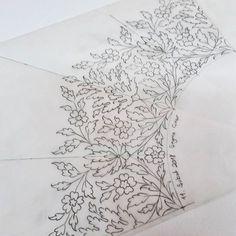 Islamic Motifs, Islamic Art Pattern, Pattern Art, Floral Embroidery Patterns, Hand Embroidery, Embroidery Designs, Motif Design, Design Art, Arabian Pattern