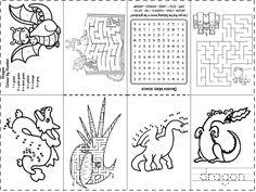 Dragon puzzles mini book