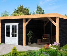 Home Pub, Cozy Backyard, Carports, Porch Area, Garden Buildings, Outdoor Living, Outdoor Decor, Pergola Designs, Outdoor Landscaping