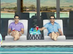 Hang out with Jonathan and Drew by their Las Vegas backyard pool. #ThePropertyBrothersatHome #hgtvmagazine http://www.hgtv.com/shows/property-brothers-at-home/the-property-brothers-at-home-pictures?soc=pinterest
