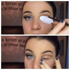 The Perfect Cut Crease Hack - Cut Crease Eyeshadow Techniques That Are All Kinds of Chic - Photos #cutcreasespoon