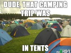 """This is a joke Chad told me - camping is """"intense"""" lol"""