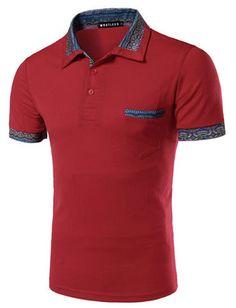 Men Fashionable Floral Printed Short Sleeve Patch Pocket Tee For Men | Item Code 739182 at m.trendy21.com