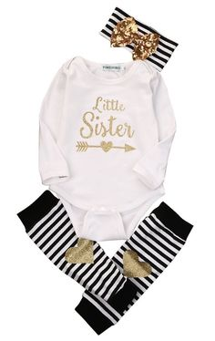 9fb8f1a7 Little Sister Set. Newborn OutfitsBaby Boy OutfitsKids OutfitsBaby Girl  RomperCute Baby GirlNewborn Baby Girl ClothesBaby ...