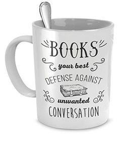 Hilarious mugs that would be great gift ideas for friends who love to read.