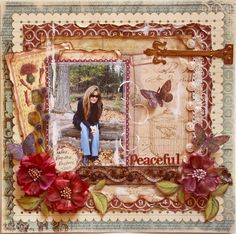 Peaceful - Scrapbook.com 7  Gypsies - Conservatory Collection + Websters Page WonderFall