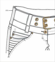 Fotos de Filigranas e bolsos jeans em vetor
