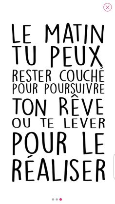 Motivational quote-Citation motivante To start the day off right, come and discover many inspiring and motivating quotes. Positive Attitude, Positive Vibes, Positive Quotes, Motivational Quotes, Inspirational Quotes, Quote Citation, French Quotes, Statements, Wise Words