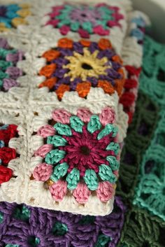 Pinner said: Crochet like you stole it and you could be the proud owner of a granny blanket this Autumn...