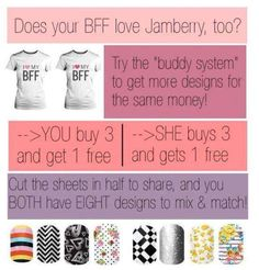 Buddy System!! What's better than getting 4 sets for the price of 3?? Sharing 8 sets for the price of 4 with your best friend!!