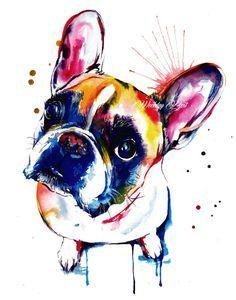* * Nei giorni feriali migliore filigrana non verranno incluso il reale stampa * * Se amate Frenchies come faccio, ti piace questo dipinto! Si tratta di una stampa della mia pittura acquerello originale in colori brillanti e audaci e alcuni spruzzi. Amo dipingere in colori vivaci per far risaltare la personalità di un animale domestico. Per favore nota stampa sarà firmato personalmente. Scegli tra 5 x 7, 8 x 10, 11x14, 12 x 16 o 13 x 19 pollici stampe in formato verticale. Questa…