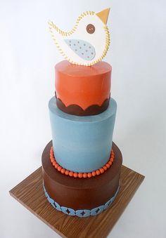 Bird cake #torta #festa #ilvizietto #cakedesign