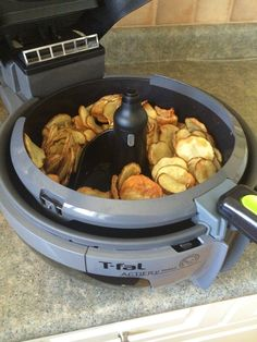 T Fal Actifry Potato Chips- tasty, low fat and easy to make. Real family pleaser!