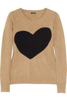 J.Crew Heart-intarsia wool-blend sweater NET-A-PORTER.COM - StyleSays