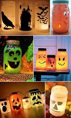 Halloween Glass Jar Lights