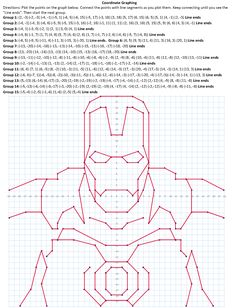 Graph Paper Drawings, Graph Paper Art, Cartesian Coordinates, Math Coloring Worksheets, Graphing Activities, Geometric Drawing, Coding For Kids, Iron Man, Join