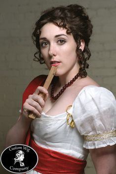 Tutorial for Regency Hair Style from Custom Wig Company (Jane Austen fantasia) Jane Austen, Regency Dress, Regency Era, Historical Hairstyles, Wig Companies, Bon Look, 1800s Fashion, Medieval Fashion, Steampunk Fashion