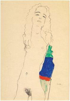 Stehender weiblicher Akt, 1910 Egon Schiele