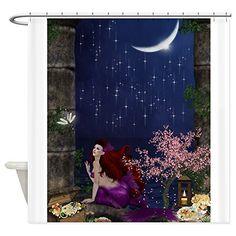 CafePress+–+Best+Seller+Merrow+Mermaid+Shower+Curtain+–+Decorative+Fabric+Shower+Curtain
