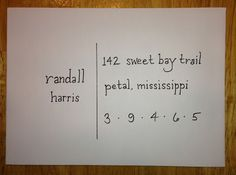 mail art Writing By Hand: calligraphy way to address an envelope Envelope Lettering, Calligraphy Envelope, Envelope Art, Envelope Design, Envelope Writing, Calligraphy Pens, You've Got Mail, Addressing Envelopes, How To Address Envelopes