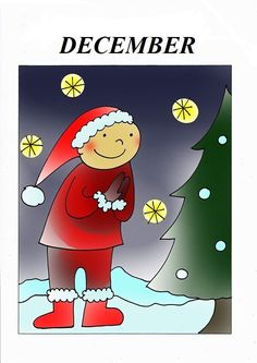 December Weather For Kids, Weather Seasons, Seasons Of The Year, Christmas Love, Bambi, December, School, Drawings, Techno