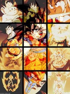 Goku. Anddd the main focus of this whole gif is Goku eating. Why am I not surprised?