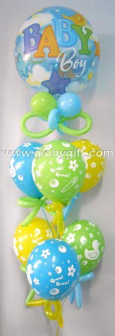 Bouquet de globos de maternidad, para dar la bienvenida al bebé.