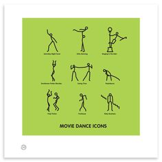 Dance Icons, Whether it's cutting loose with footloose or a little dirty dancing this print is a must for any dance movie-loving aficionado!