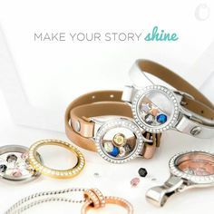 Shine a little brighter this fall in our new Crystals by Swarovski Collection made *exclusively* for Origami Owl!:-)
