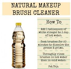 One little-known way to clean your makeup brushes: Soak them in vinegar and hot water