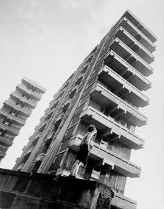 Tower blocks in the Gorbals, Glasgow, Architect - Sir Basil Spence. Industrial Photography, Urban Photography, Gorbals Glasgow, Tower Block, Glasgow Scotland, Scotland Travel, Social Housing, Fine Art Photo, Slums