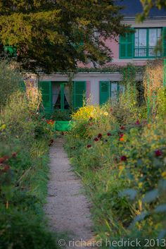Claude Monet Giverny Garden. Giverny France