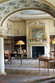 "town-country-wasping:  ""Library at Shugborough Hall, England  """