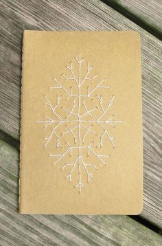 Little Star Notebook- one-of-a-kind blank Moleskine with hand-embroidered cover