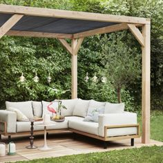 Douglas pergola met schaduwdoek cm Douglas pergola with shade cloth cm Backyard Seating, Patio, Backyard Landscaping, Garden Sitting Areas, Pergola Designs, Other Rooms, Garden Furniture, Living Room Decor, Modern Pergola