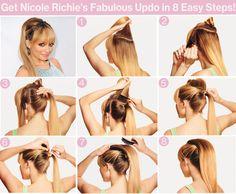 Nicole Richie's ponytail tutorial