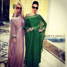 2015 New Green Hot estilo árabe Kaftan vestidos noche con mangas largas Crystal…