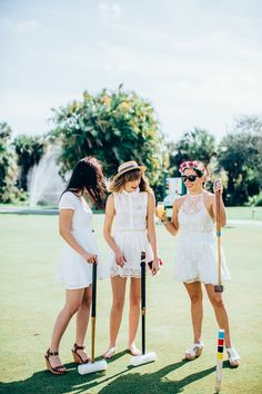 Press pause on wedding planning! These fun bachelorette party games (and activities) are the best way for the bride to unwind with her friends. Bachelorette Party Activities, Hen Party Games, Lawn Games, Croquet Party, Yard Party, Tea Party, Tennis, Bridezilla, Martha Stewart Weddings