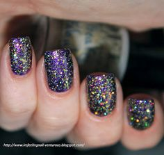 Freaky & Fabulous Gold Holo Glitter Nail Polish from Life's a Beach Collection  glitter nails