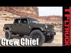 We Drive the Jeep Crew Chief 715 Pickup Truck Concept Off-Road! - YouTube