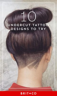 Save this to get creative hair inspo on the latest 'do trend, an undercut tattoo.