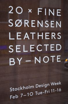 For this year Stockholm Design week we collaborated with Danish Brand Sorensen Leather, trying to enhance the experience of their beautiful products. The outcome is a colour box with 20 Fine leather created by us and a exhibition in our newly renovated studio in the heart of Stockholm. Photo Jonas Bjerre-Poulsen