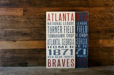 Atlanta Braves Distressed Decorative Sign by SportsSigns on Etsy, $50.00