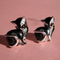 1960s Kitty Cat Cufflinks #vintage #cufflinks #cat #kitty #madmen #1960s $38.00