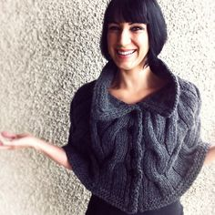 """We love this classic and classy capelet knit by @TruffleShuffler on Ravelry. It's the Starlette Capelet from the Knitscene Magazine Accesories issue knit with Valley Yarns Berkshire Bulky doubled. We also like her """"lesson learned"""" advice: Always purchase an extra skein when making a yarn substitute."""
