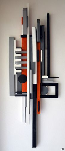 construct 1 / Reclaimed Art by Labros Sekliziotis Geometric Sculpture, Abstract Sculpture, Wood Sculpture, Wall Sculptures, Geometric Art, Sculpture Ideas, Bronze Sculpture, Recycled Art, Contemporary Paintings