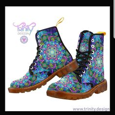 Updates from TrinityDesignEtsy on Etsy Festival Outfits Australia, Rave Shoes, Floral Combat Boots, Short Playsuit, Justin Boots, Casual Outfits, Etsy, Clothes For Women, Boots Women