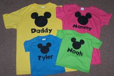 Disney T Shirt Ideas | made these shirts for our trip to Disney World in September using ...