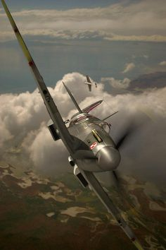 Spitfire in a steep bank.